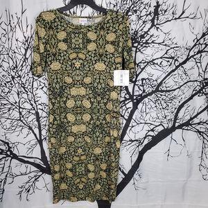 LuLaRoe Julia Dress Black & Green Floral Print